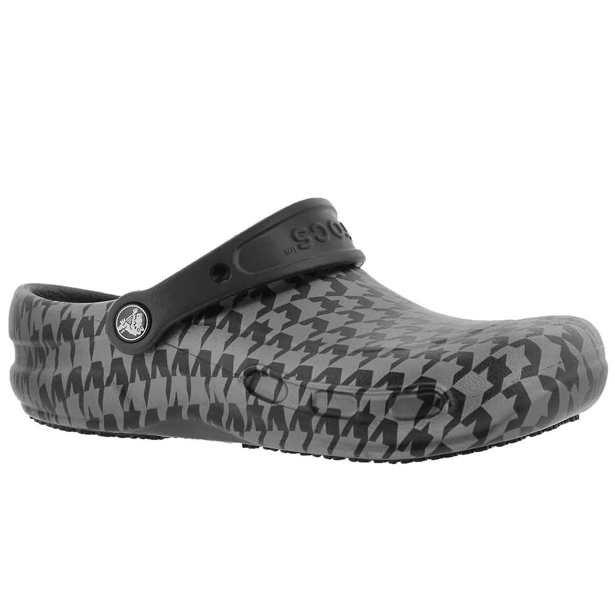 Unisex BISTRO GRAPHIC black/silver clogs