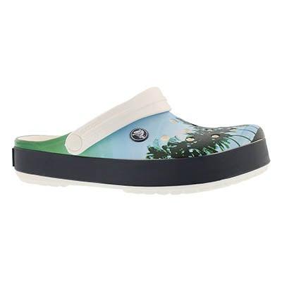 Unisex Crocband Tropics white/blue clog