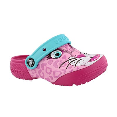 Crocs Girls' LEOPARD PINK FUNLAB clogs