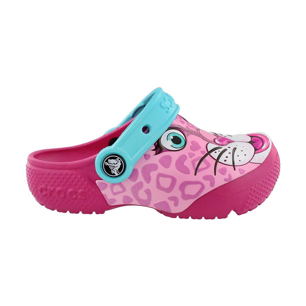 Grls Leopard Pink Funlab Clog