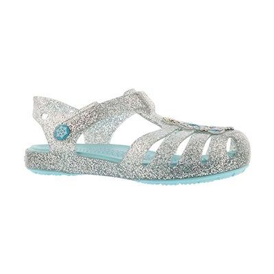 Grls Isabella Frozen slvr casual sandal