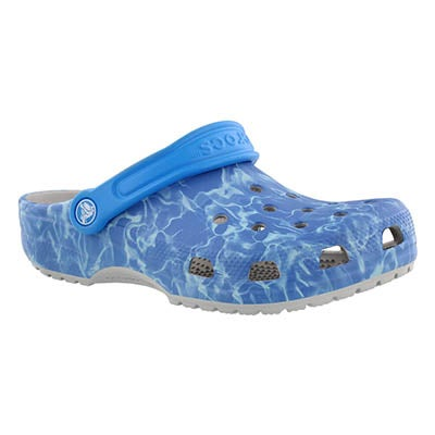 Unisex Classic Water Graphic blue clog