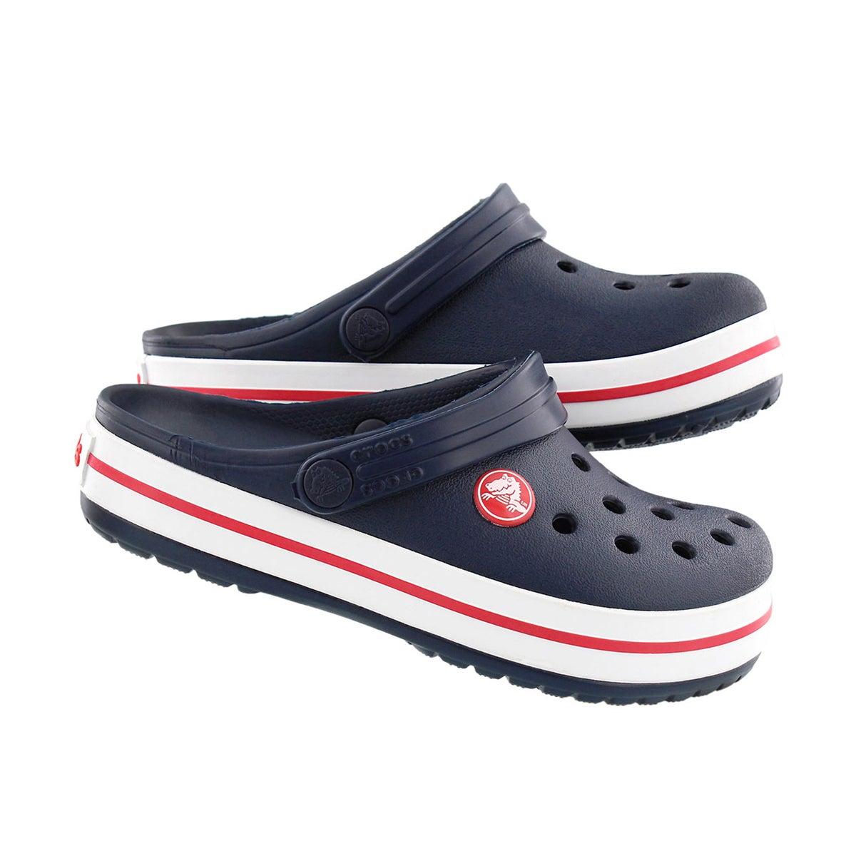 Kds Crocband navy/red EVA comfort clog
