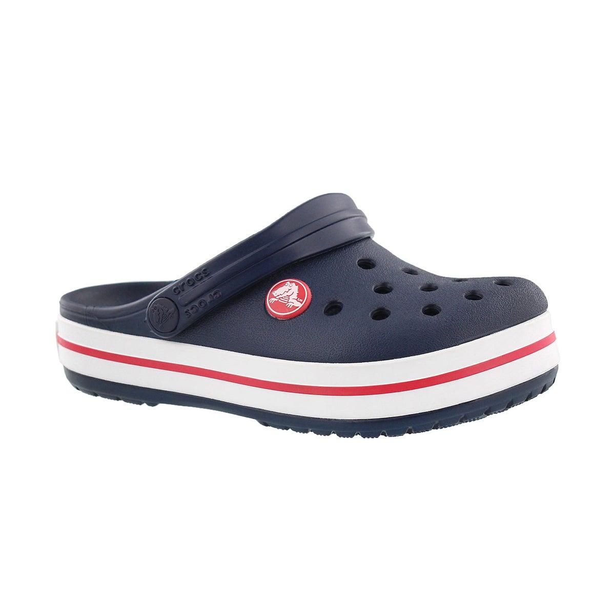 Kids' CROCBAND navy/red EVA comfort clogs