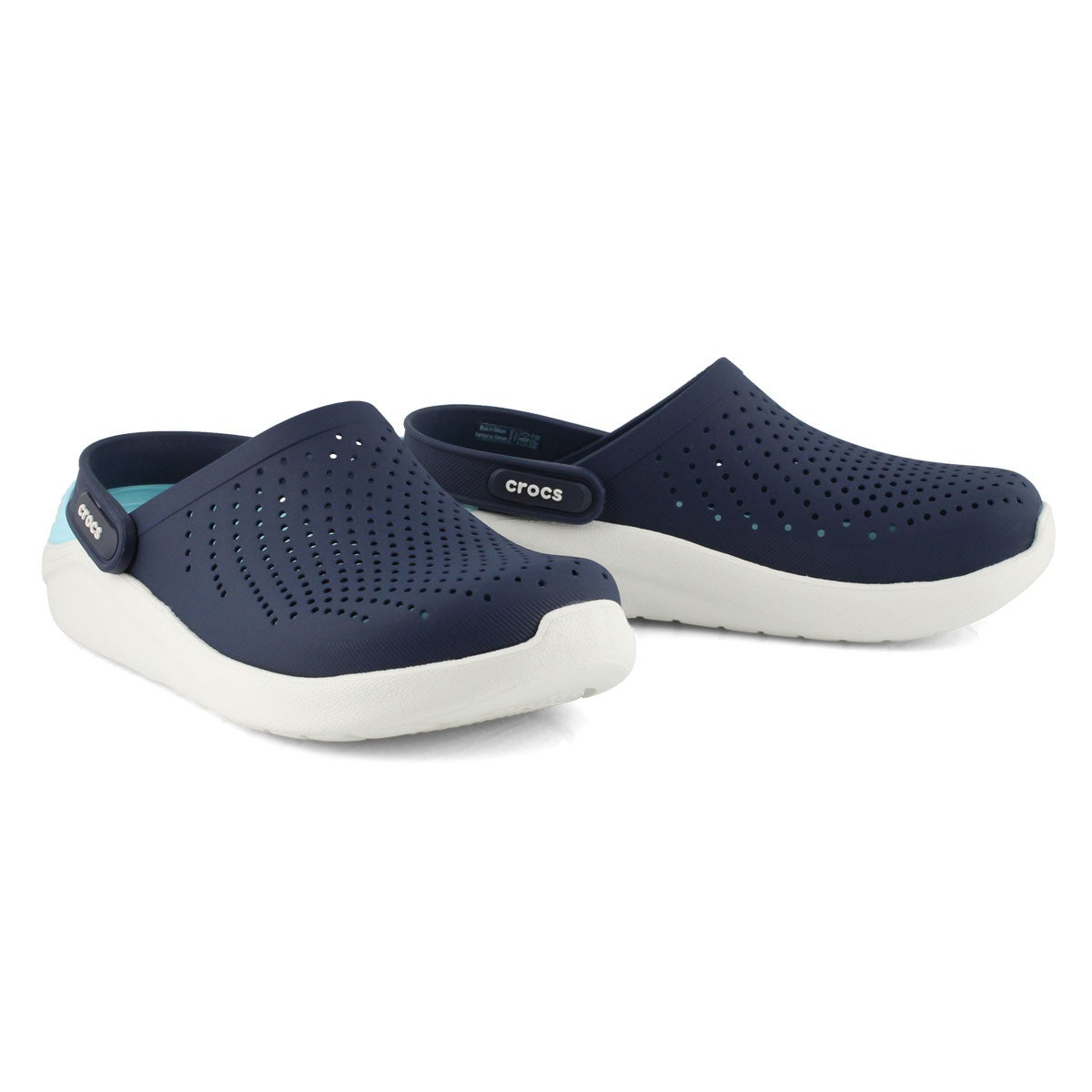 Lds LiteRide navy/almost wt clog