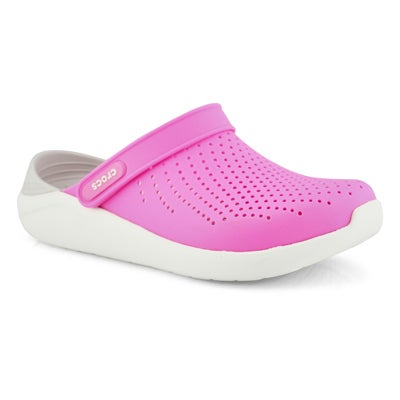 Lds LiteRide electric pnk/almost wt clog