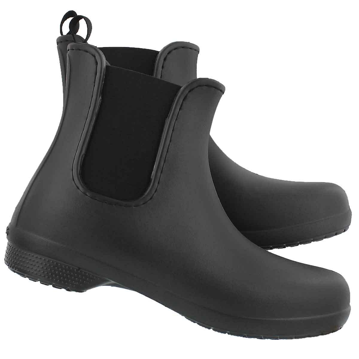 Lds Freesail black chelsea rainboot