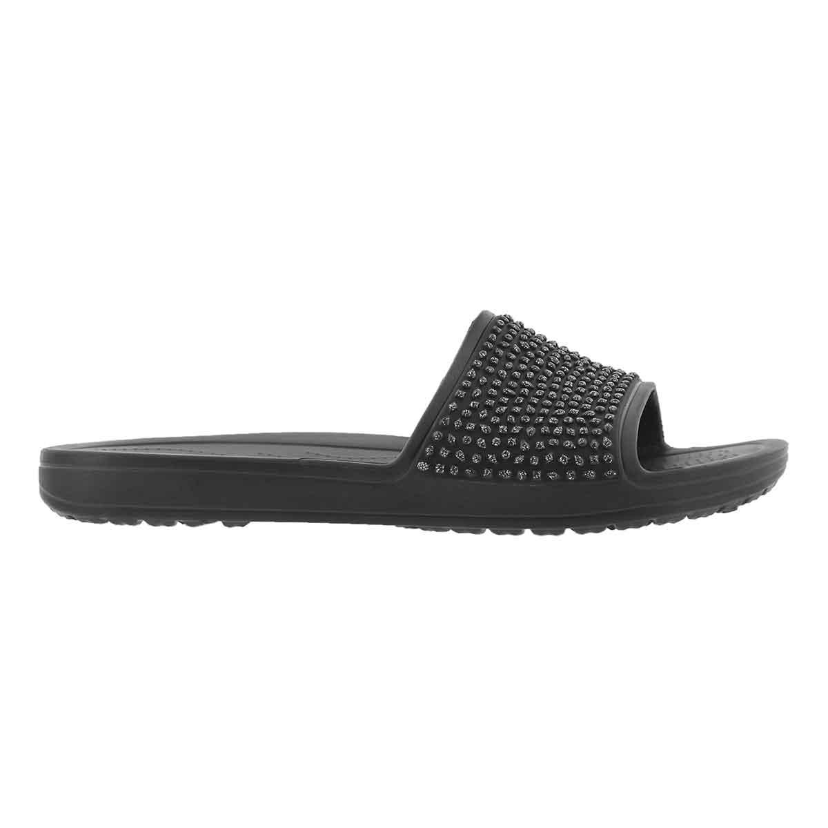 Lds Sloane Embellished blk/blk sandal