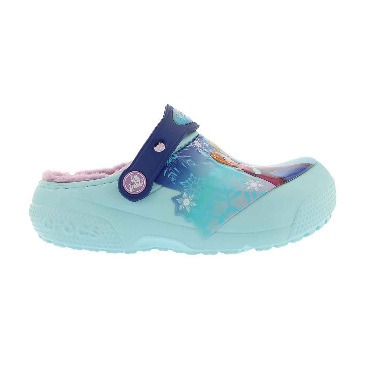 Grls FunLab Lined Frozen ice blu clog