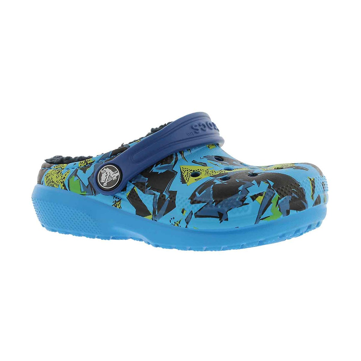 Boys' CLASSIC LINED GRAPHIC ocean/navy clogs