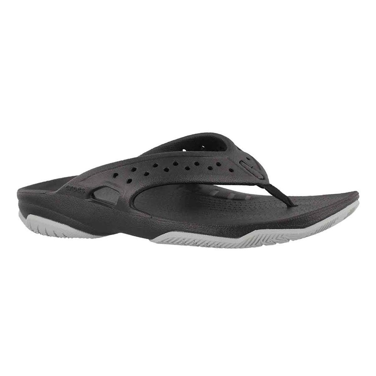 Men's SWIFTWATER DECK FLIP blk/gry sandals