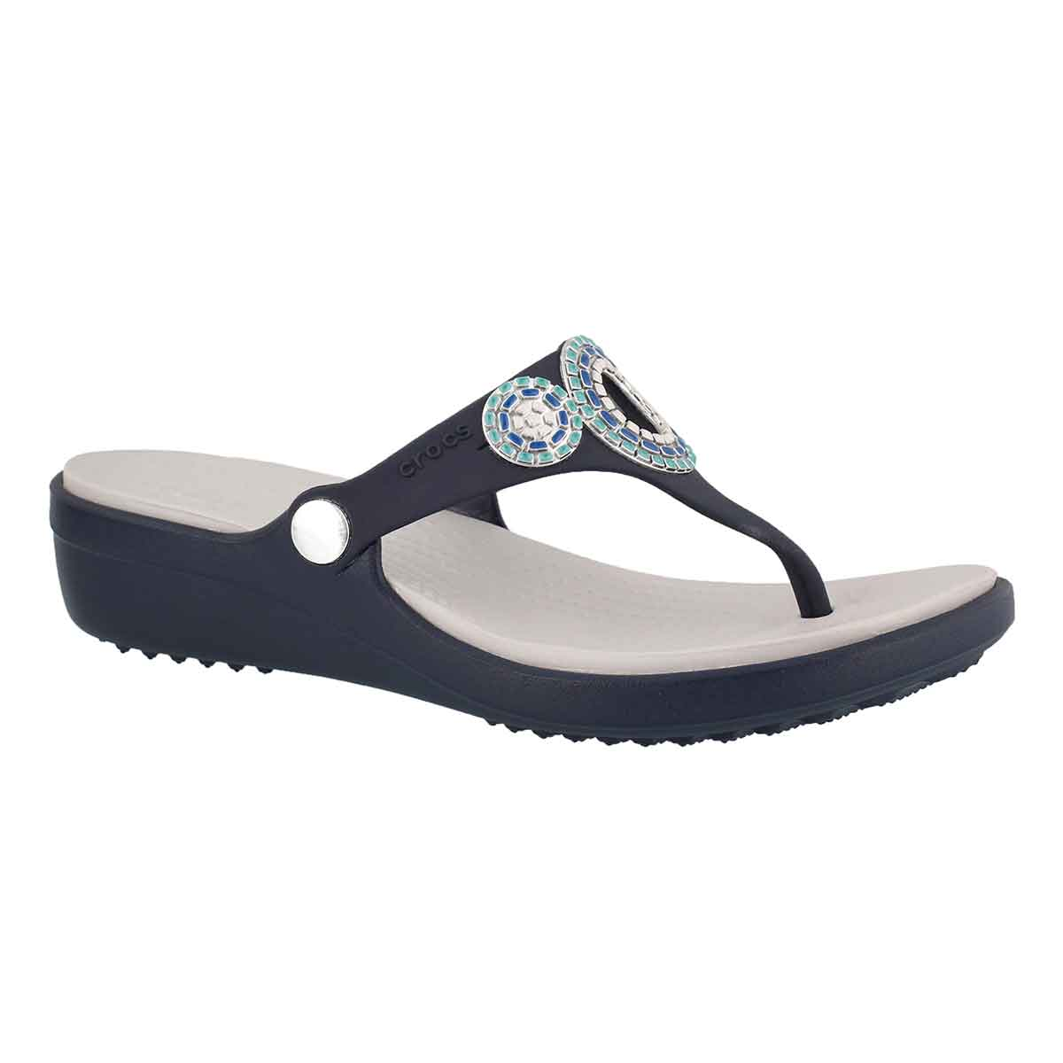 Women's SANRAH DIAMANTE nvy/turq sandals