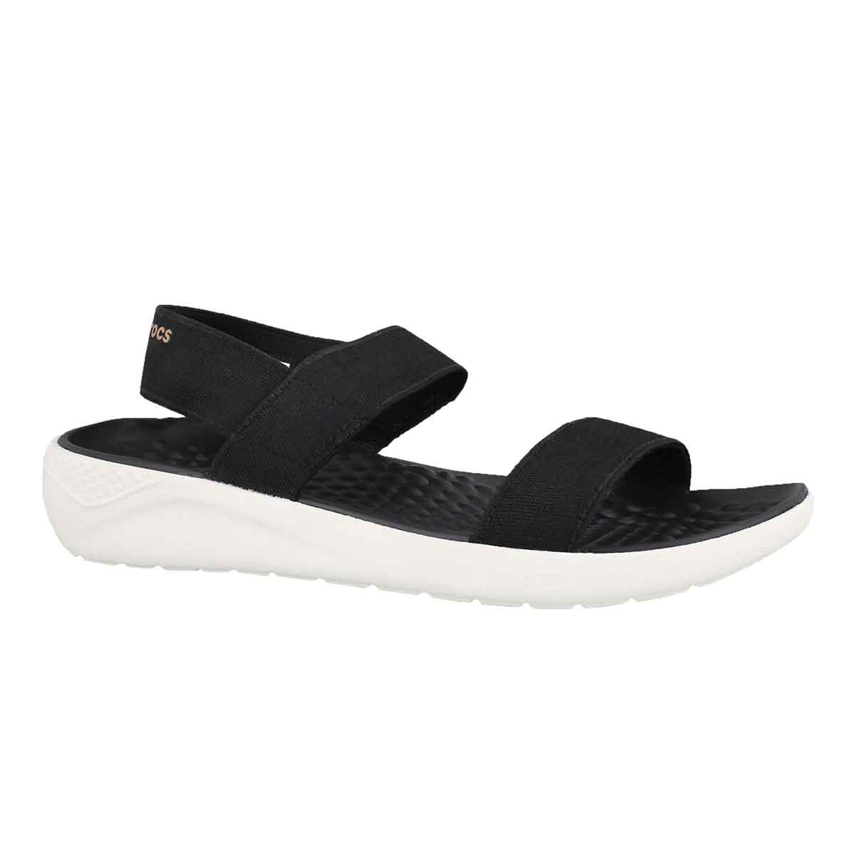 Women's LITERIDE black/white casual sandals