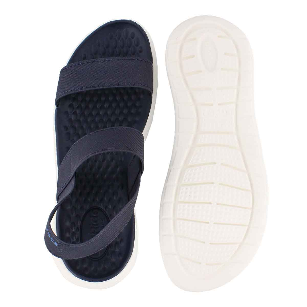 Lds LiteRide nvy/wht casual sandal