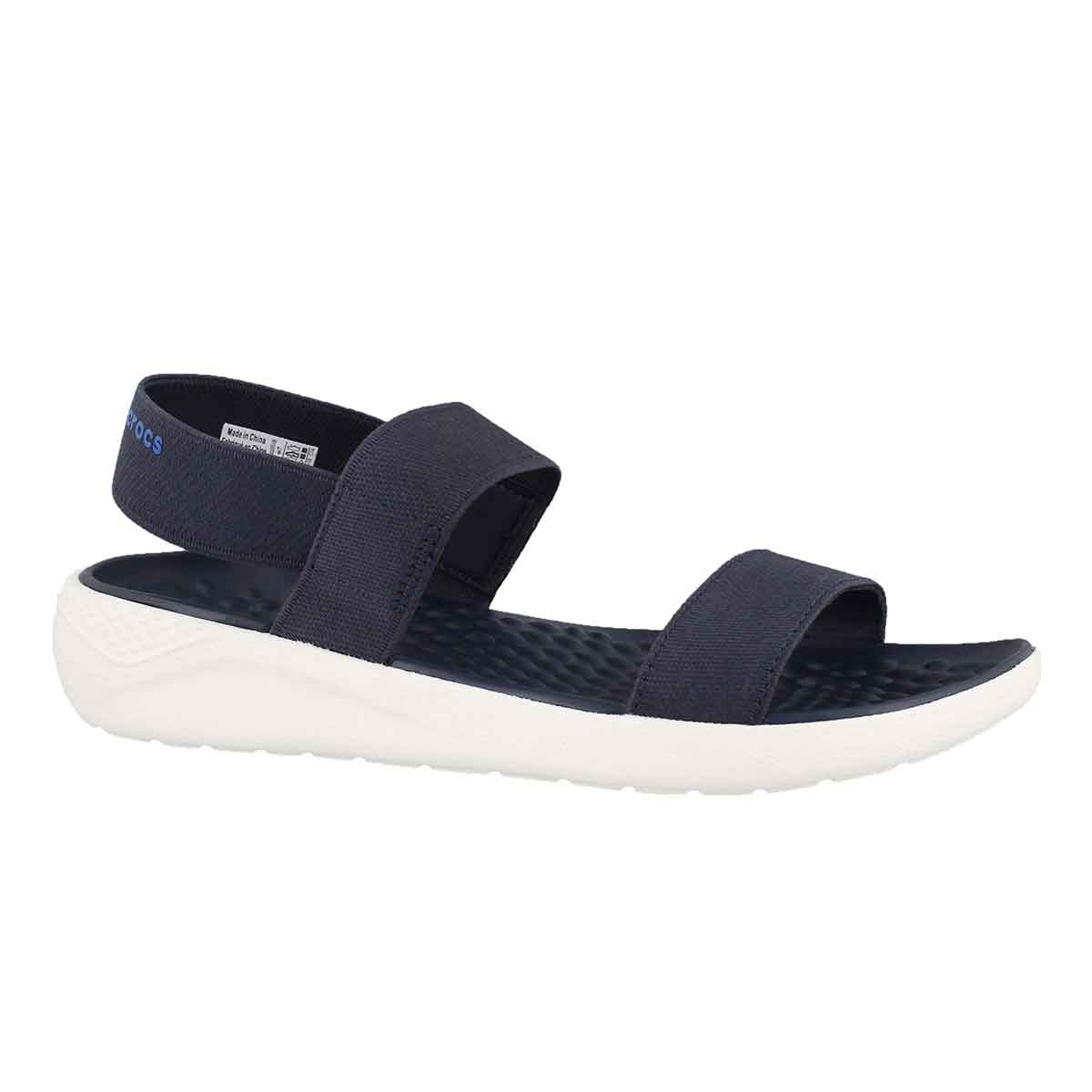 Women's LITERIDE navy/white casual sandals