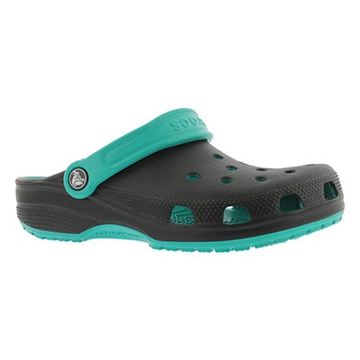 Unisex Classic Carbon tropical teal clog