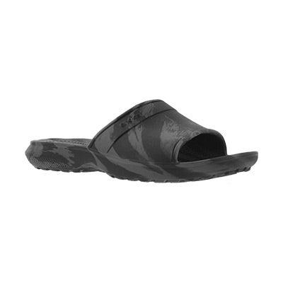 Kds Classic Swirl black slide sandal