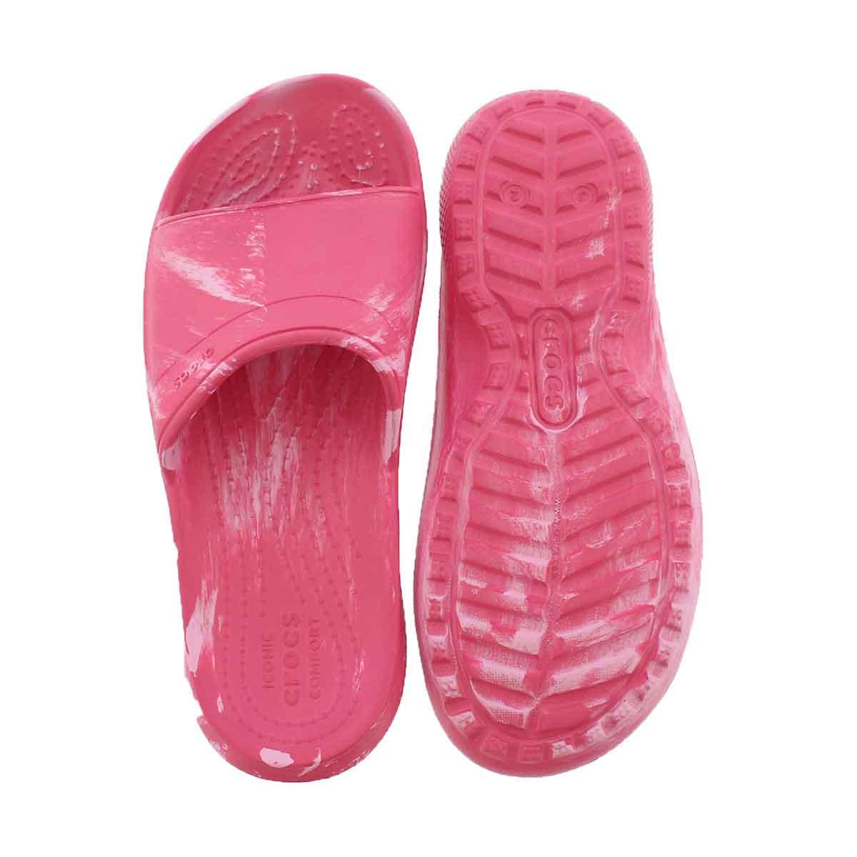 Grls Classic Swirl pink slide sndl