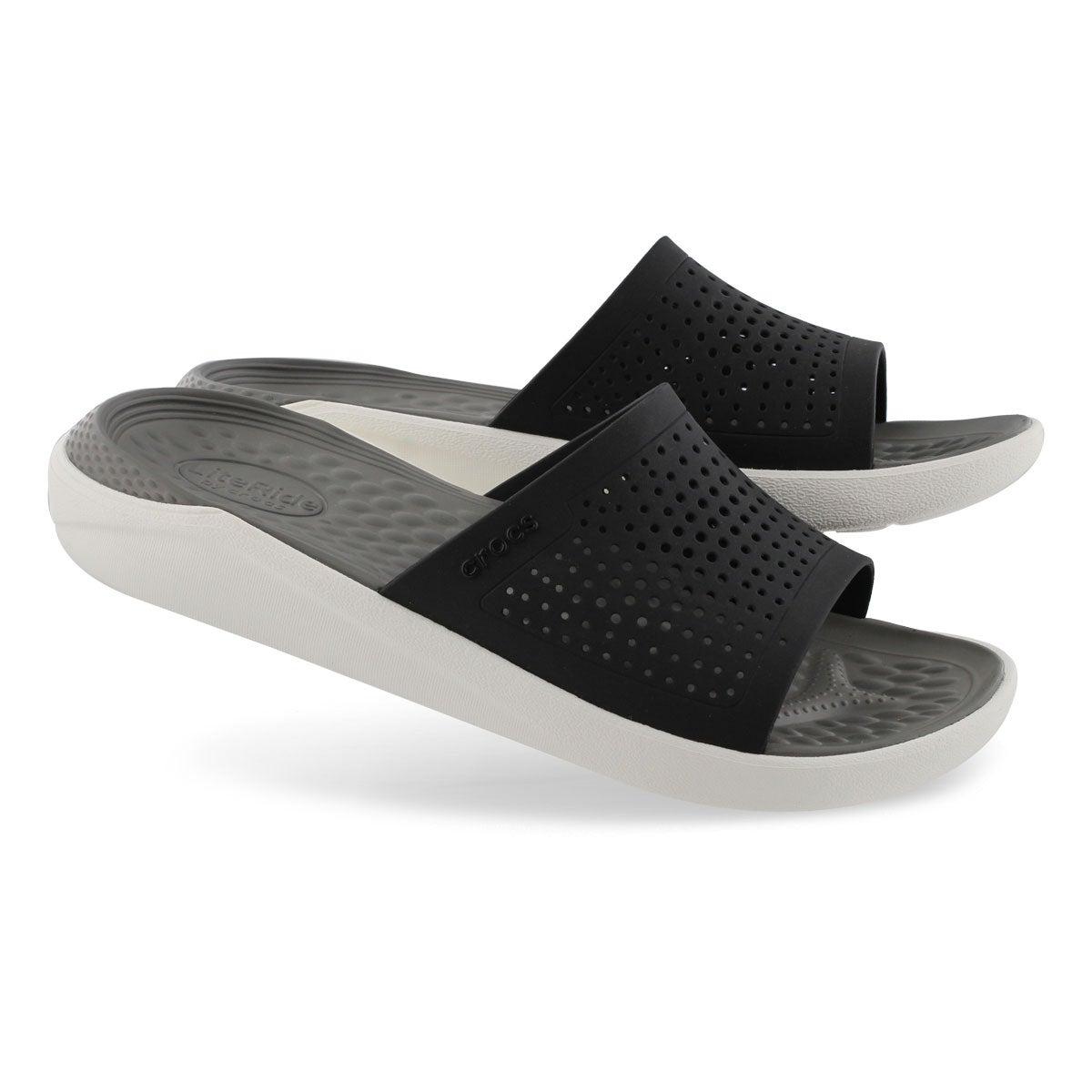 Mns LiteRide blk/smoke slide sandal