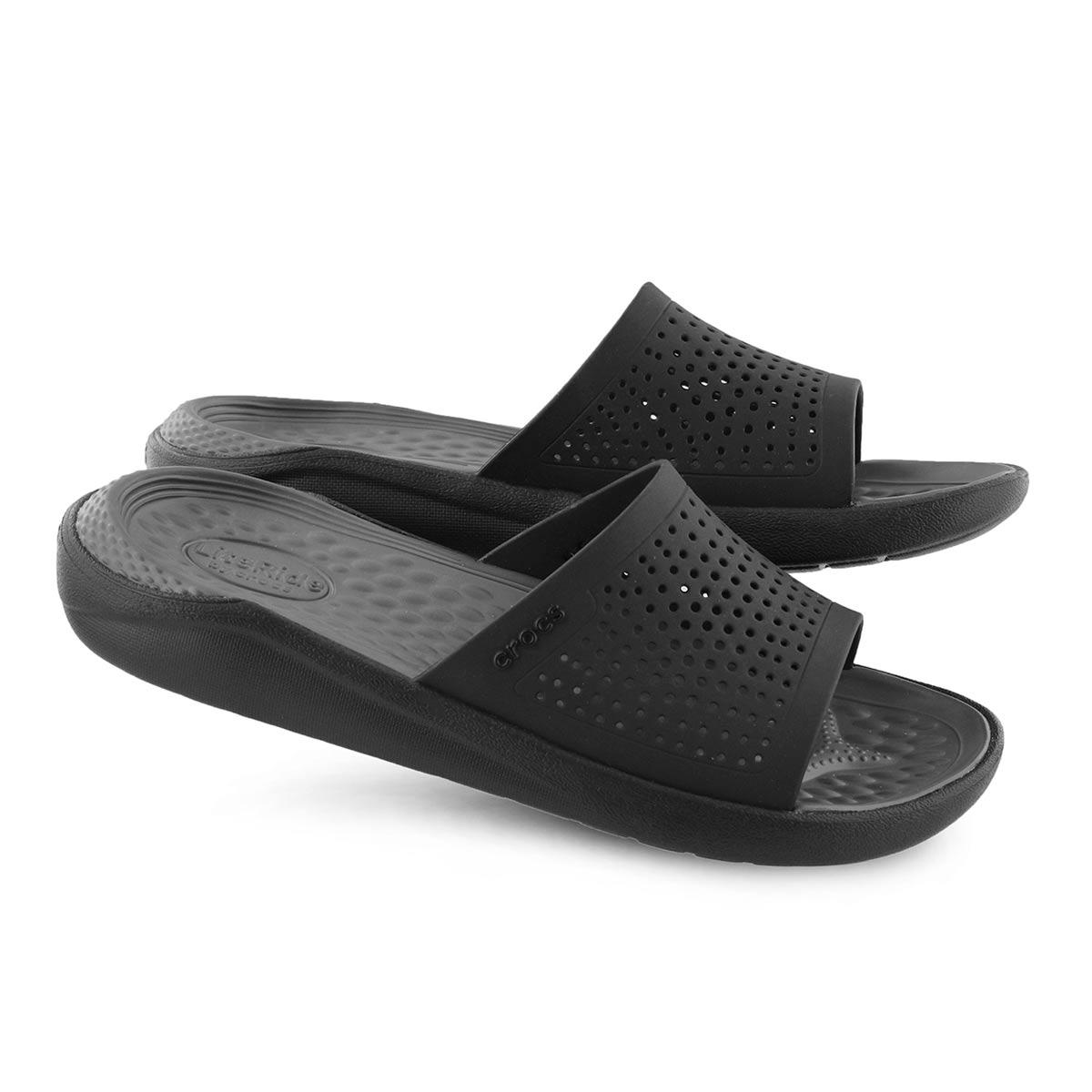 Lds LiteRide blk/slate slide sandal