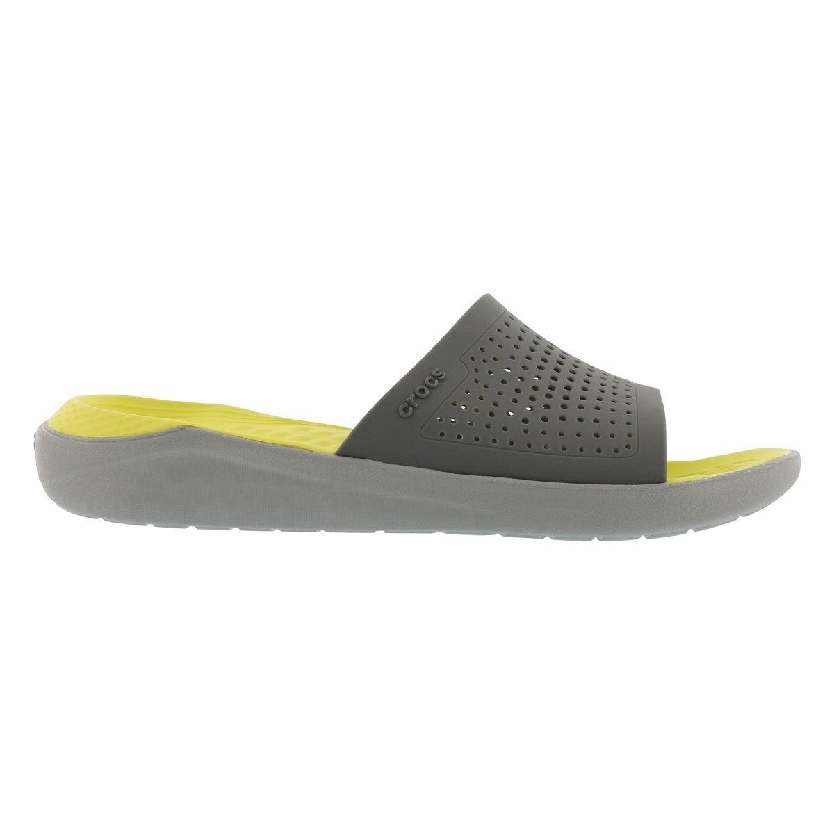 Mns LiteRide grey slide sandal