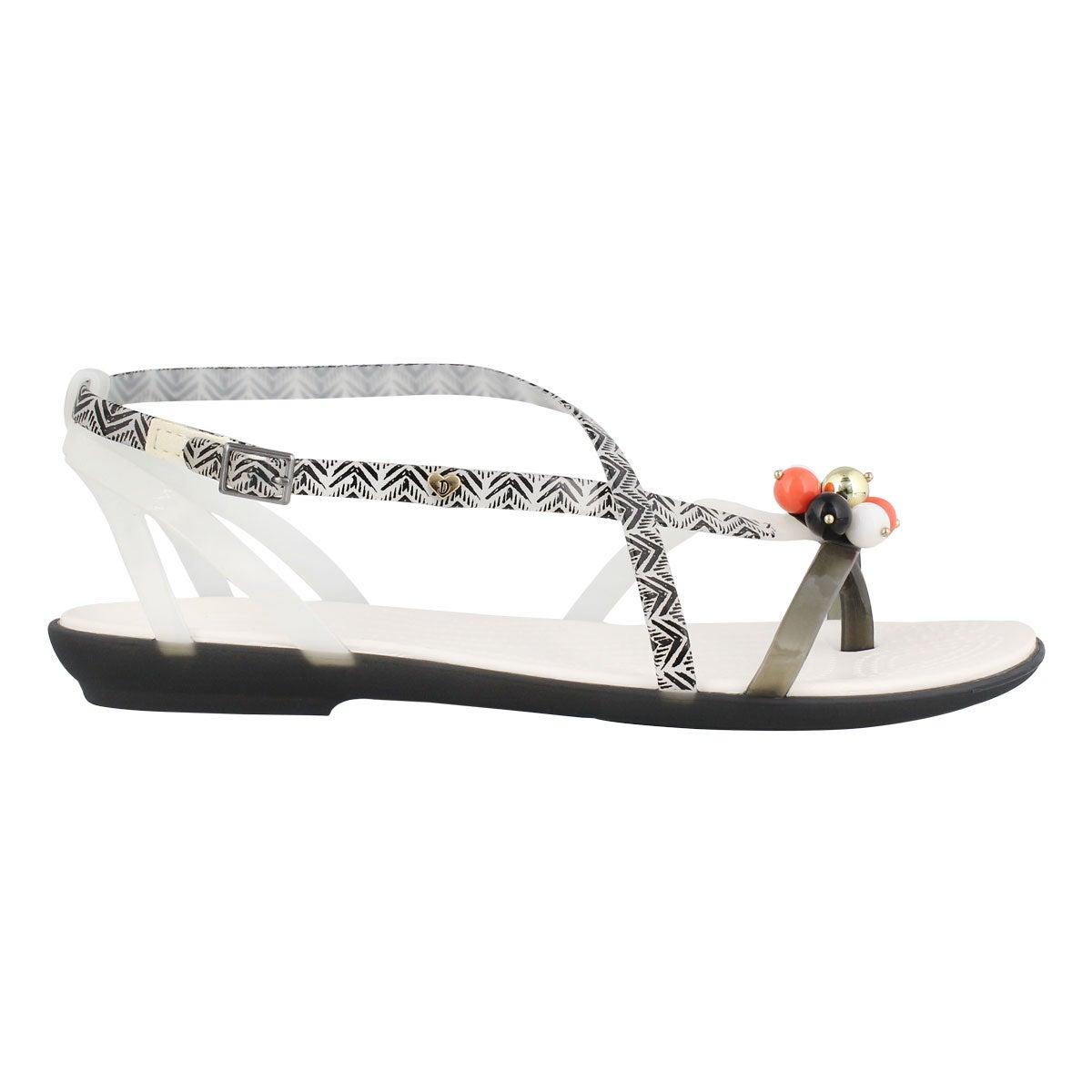 Lds Drew Isabella black/white sandal