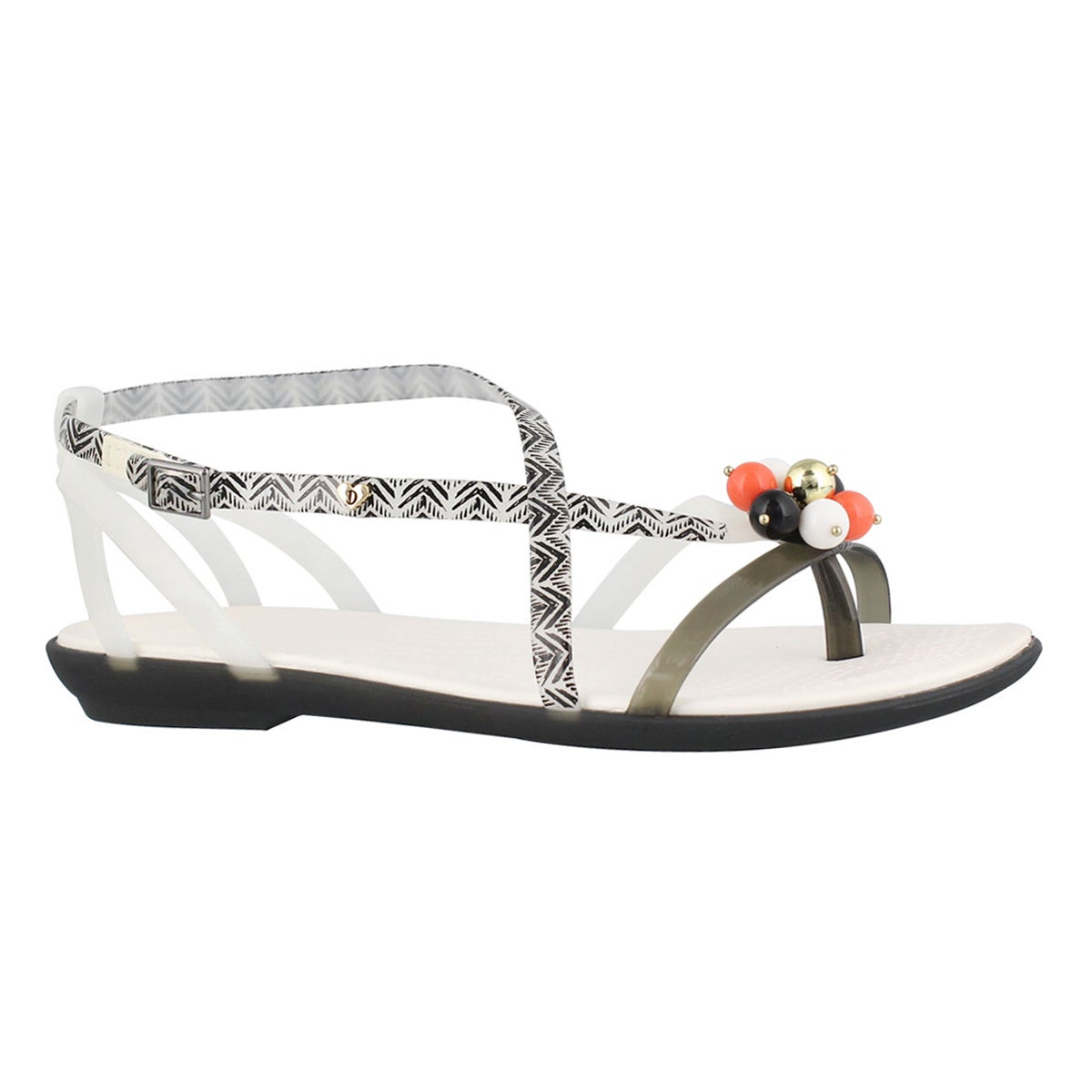 Women's DREW ISABELLA black/white sandals