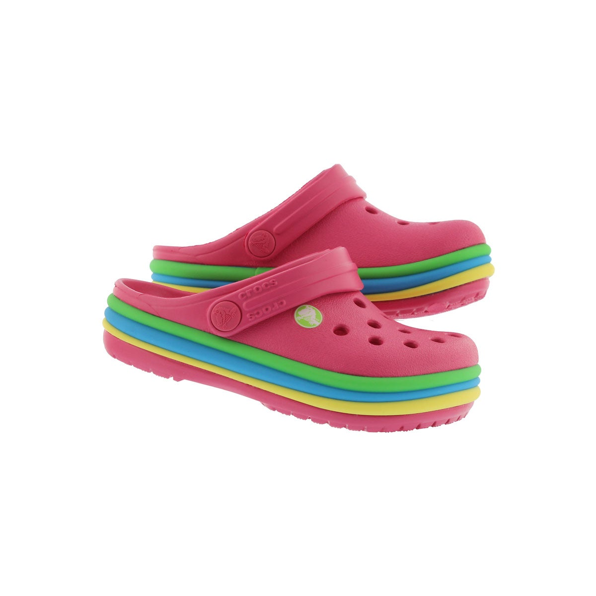 Infs-g CB Rainbow Band pink EVA clog
