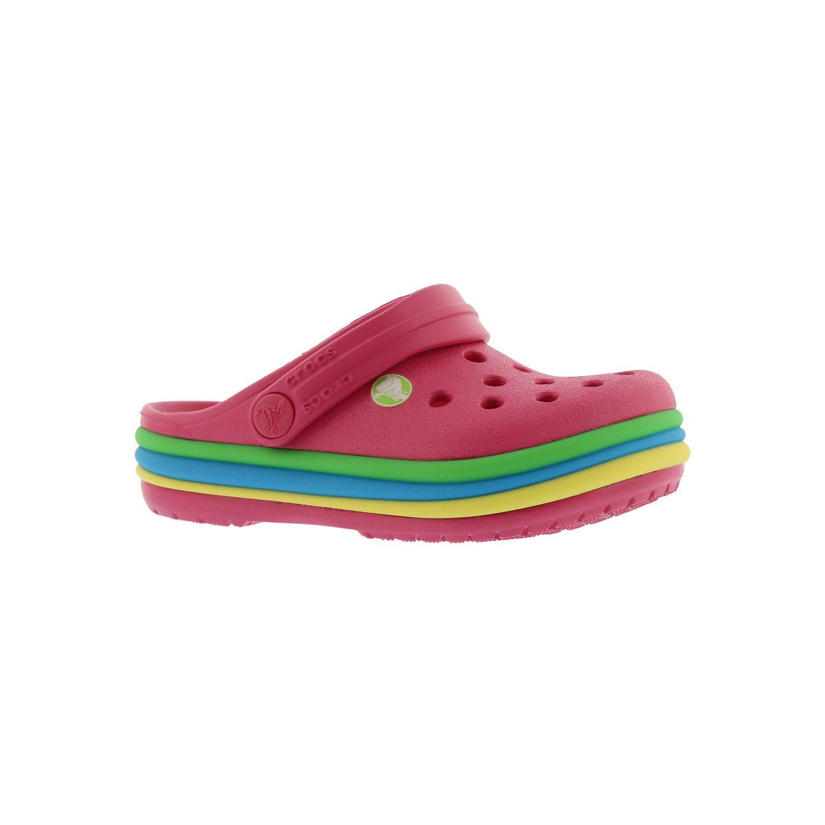 Infants' CROCBAND RAINBOW BAND pink EVA clogs