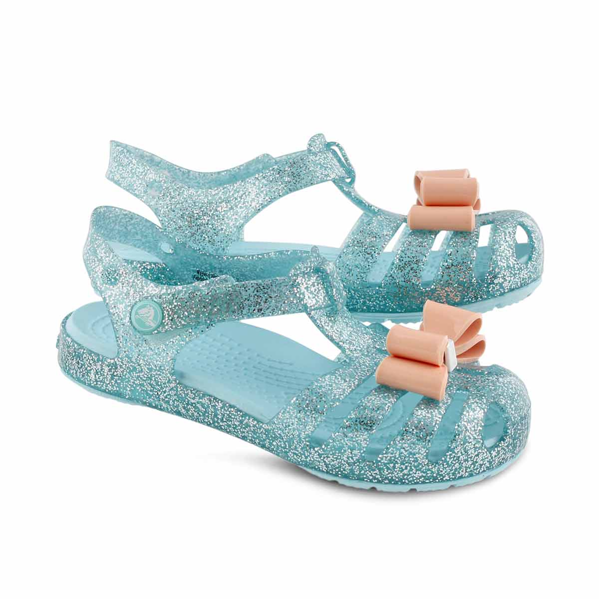 Grls Isabella Bow ice blue casual sandal