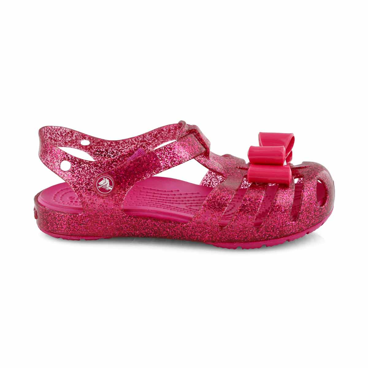 Grls Isabella Bow candy pink casual sndl