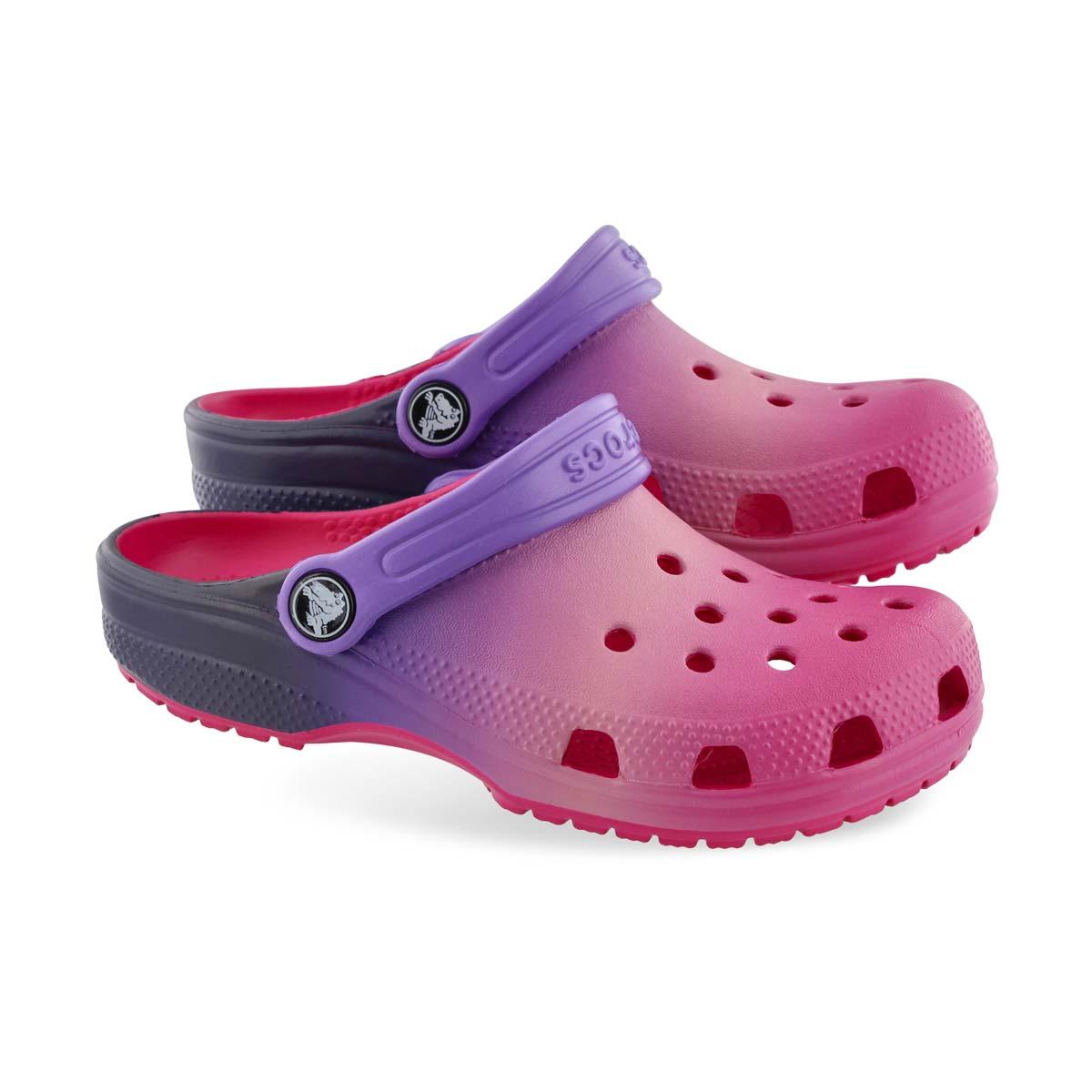 Grls Classic Ombre pink EVA comfort clog