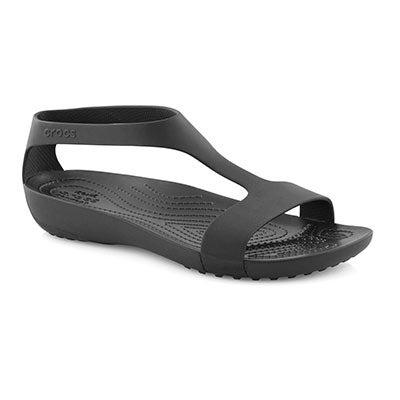 Lds Serena blk/blk casual sandal