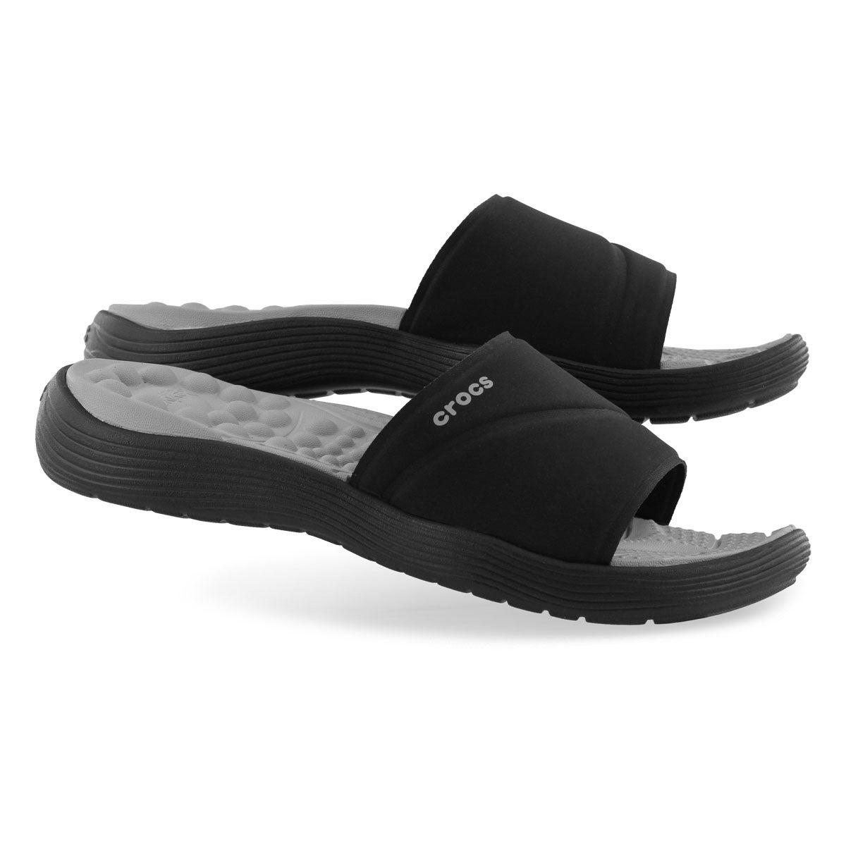 Lds Reviva black slide sandal