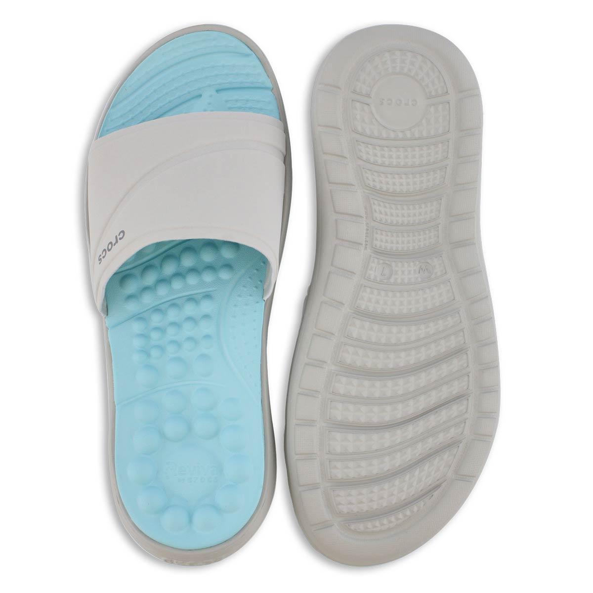 Lds Reviva white slide sandal