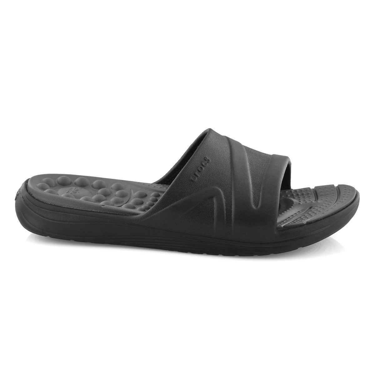 Mns Reviva blk/slate slide sandal