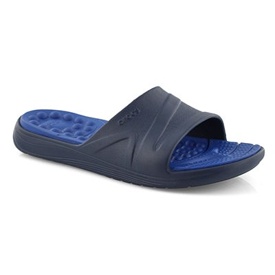 Mns Reviva navy/blue slide sandal