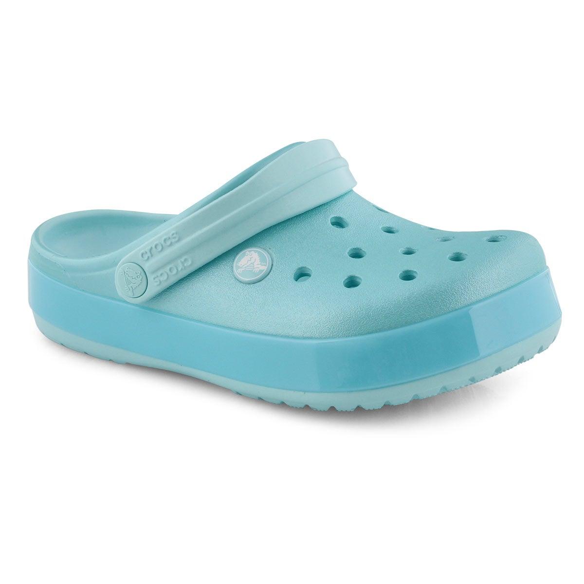 Grls Crocband Ice Pop ice blue EVA clog