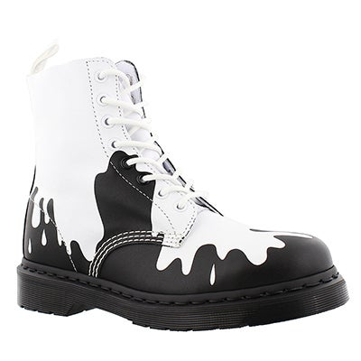 Dr Martens Women's PASCAL 8-Eye white/black combat boots