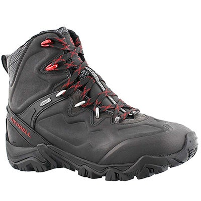 Merrell Men's POLARAND 8 black waterproof winter boots