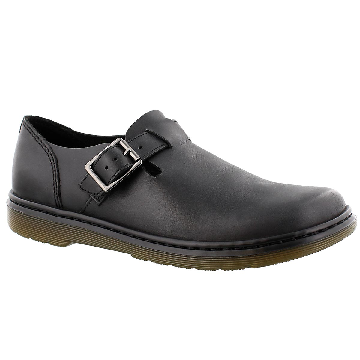 Lds Patricia black casual buckle loafer