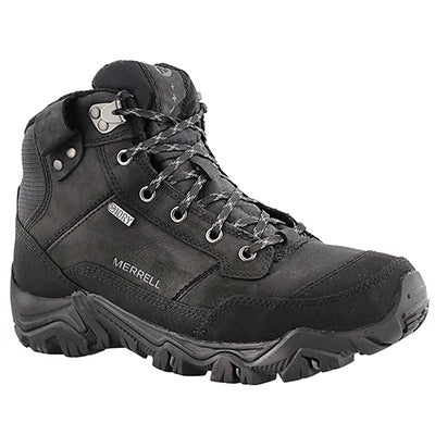 Merrell Men's POLARAND ROVE black waterproof lace up boots