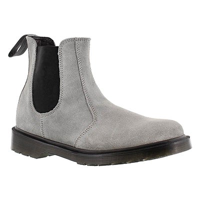 Dr Martens Women's 2976 grey pull on chelsea boots