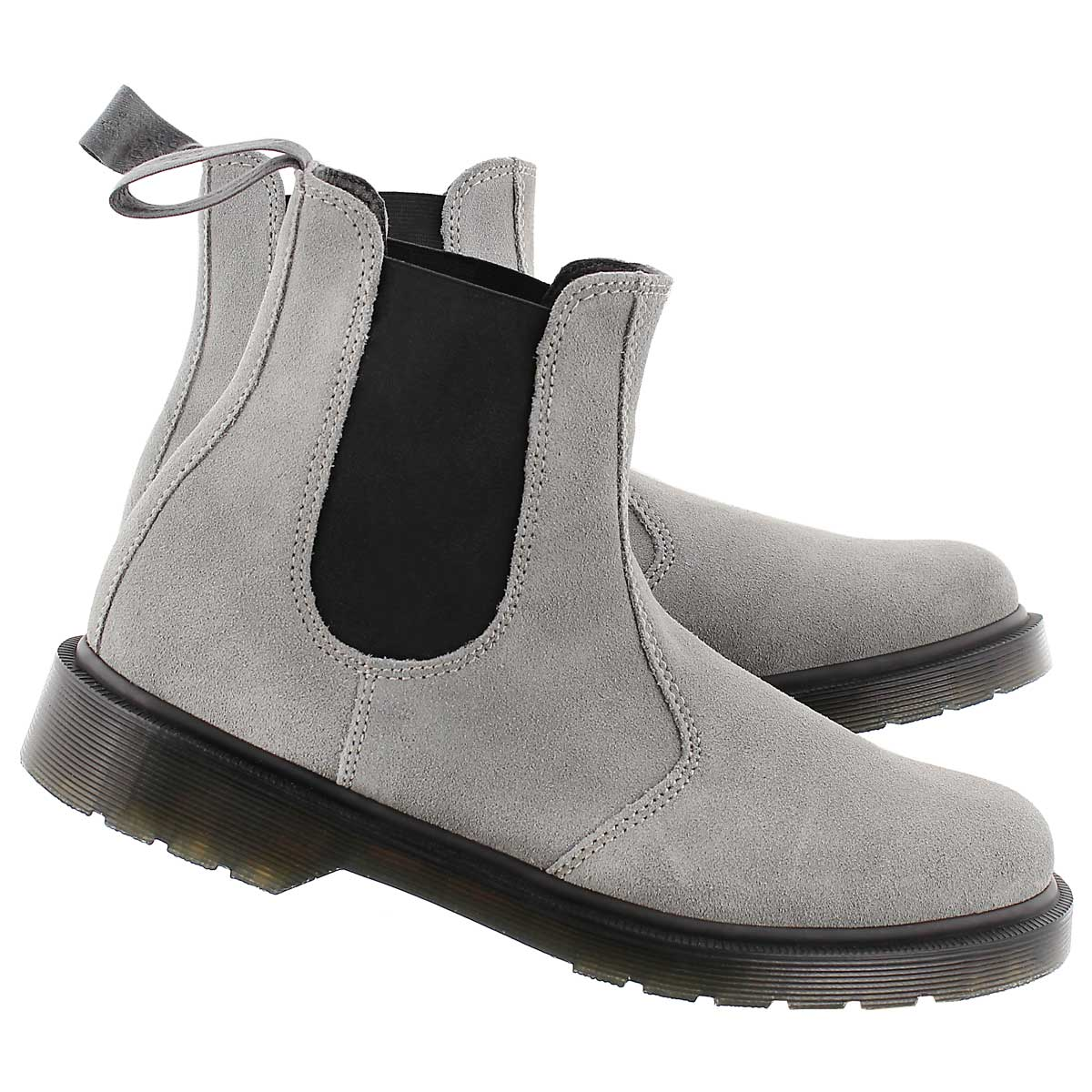 Lds 2976 grey pull on chelsea boot
