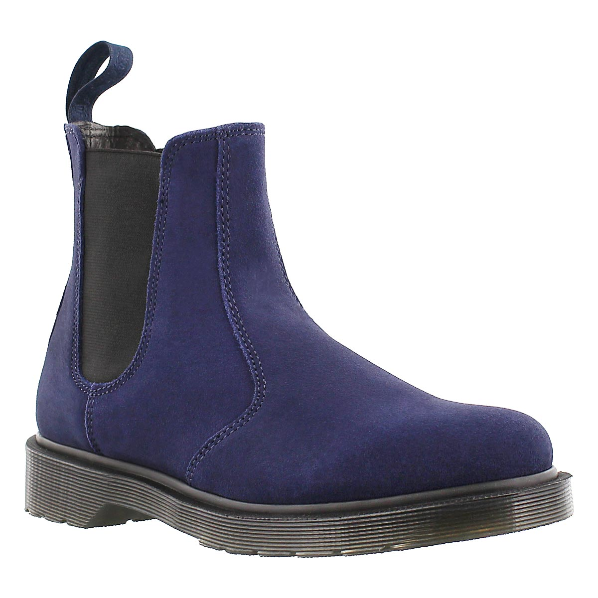 Lds 2976 navy pull on chelsea boot