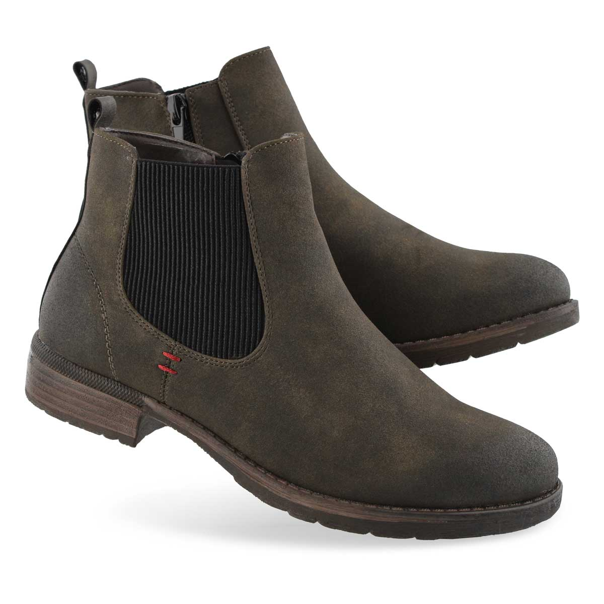 Lds Wendy 04 olive chelsea boot