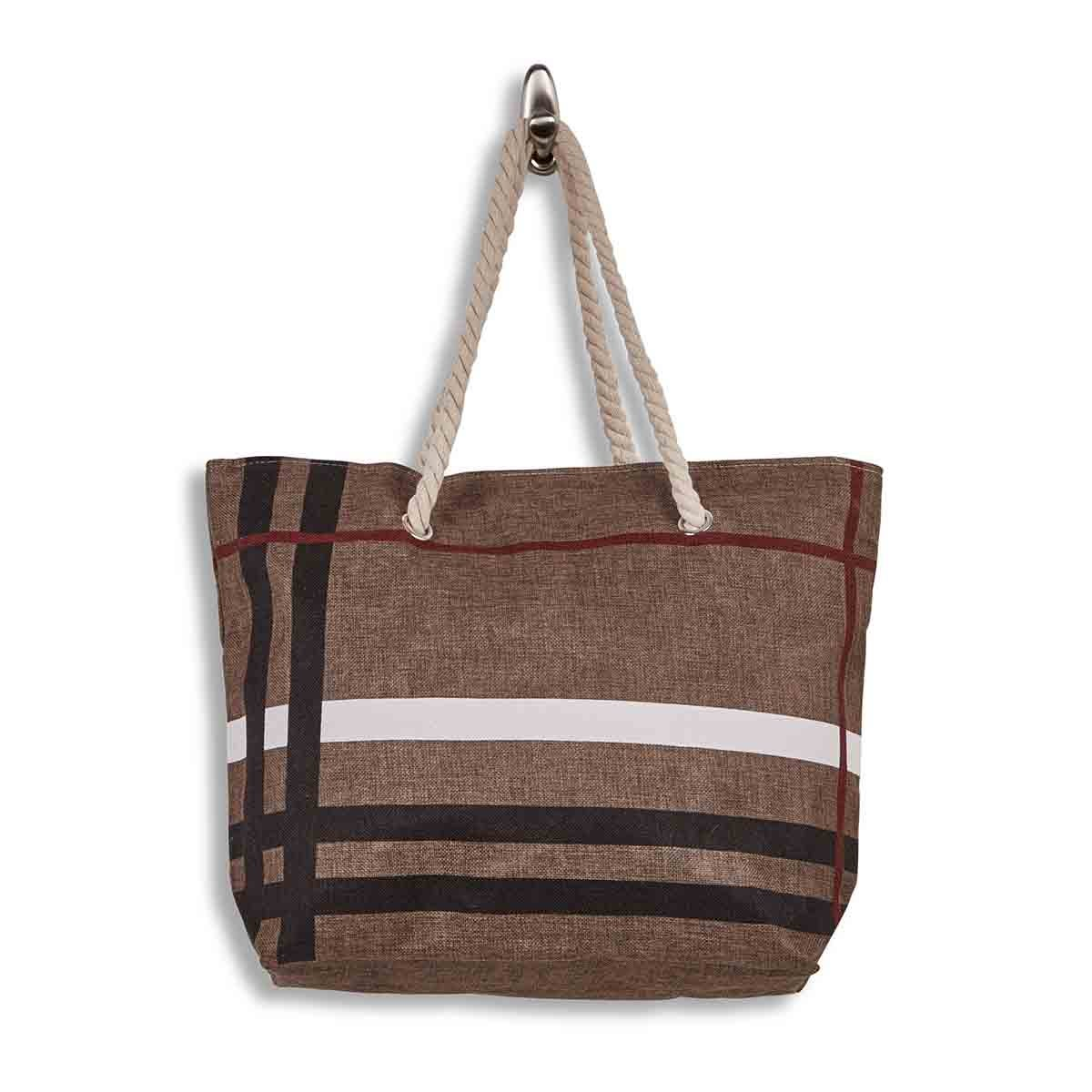 Lds camel large canvas tote bag