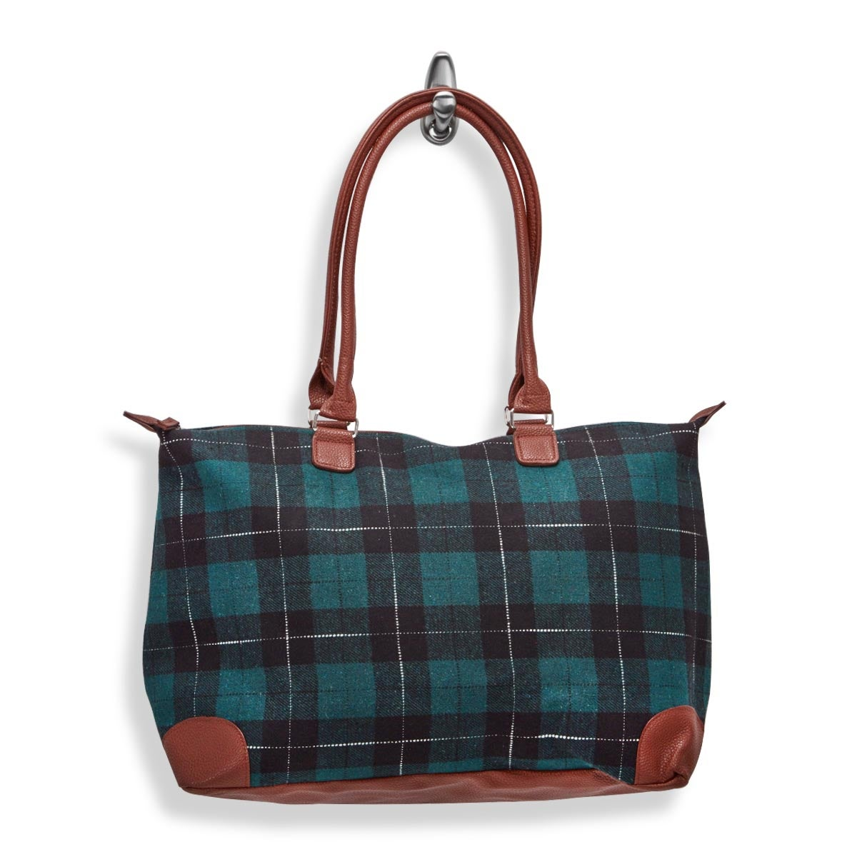 Lds green large flannel tote bag
