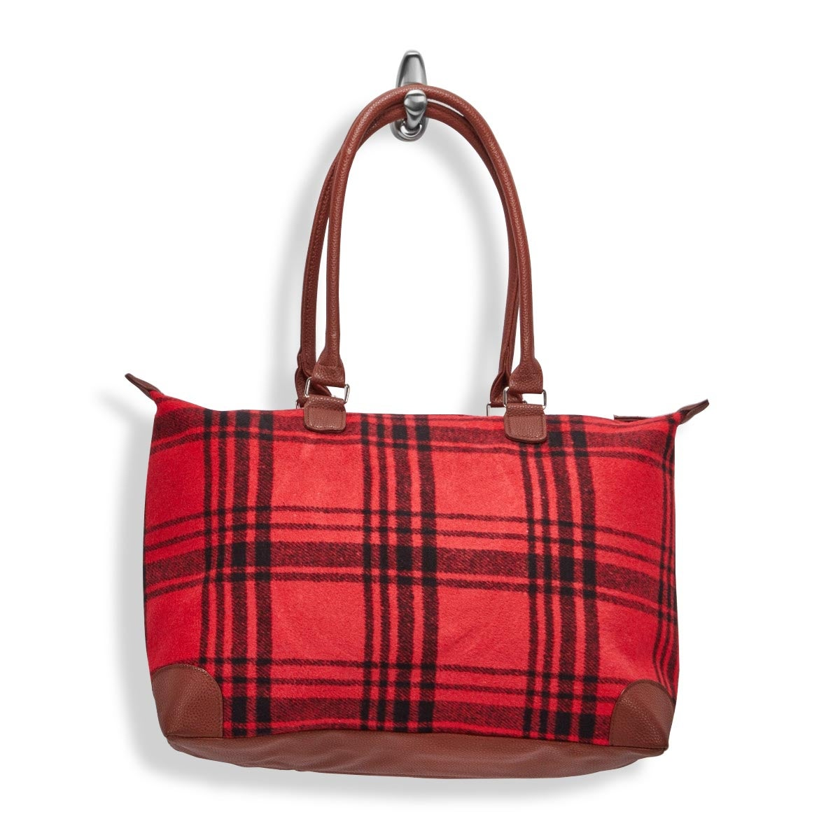 Lds red large flannel tote bag
