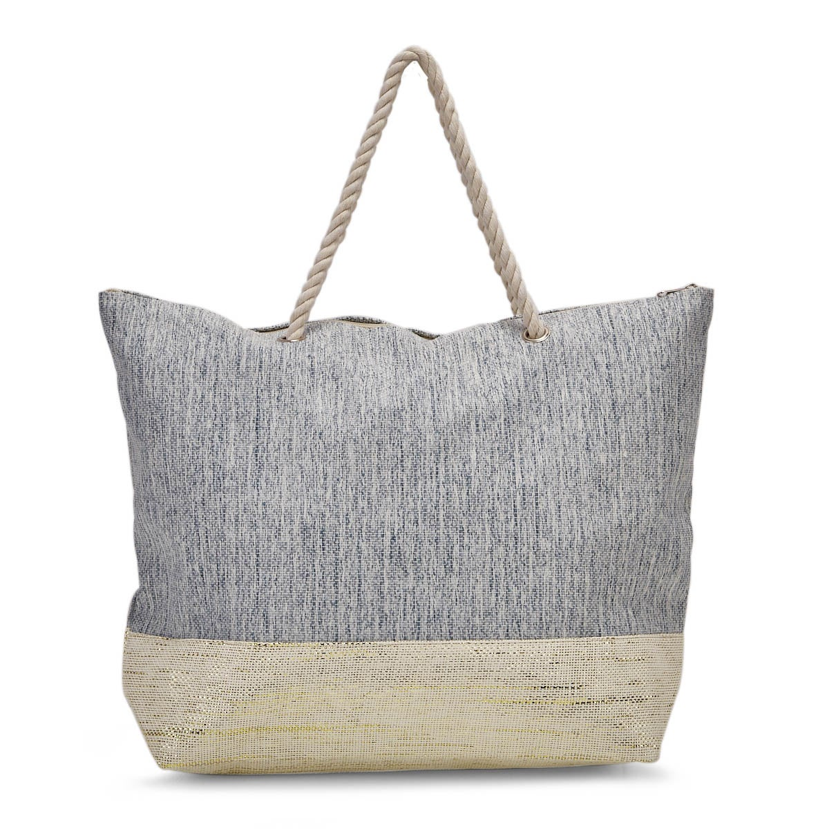 Lds denim beach large tote hand bag